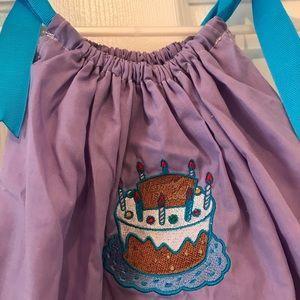 Boutique birthday dress ! Purple & blue ribbons